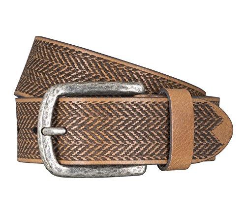 LLOYD Men's Belts Gürtel Herrengürtel Ledergürtel Büffelleder Beige 5047, Farbe:Braun, Länge:100