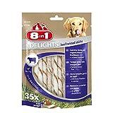 8in1 Delights Beef Twisted Sticks, gesunder Kausnack für sensible Hunde, 35...