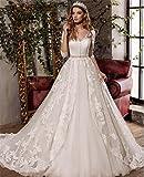 LUCKY-U Vestito da Sposa Vestito Lungo Regalo di Matrimonio Donna Vestito da Sposa Abito da Sposa Formato Personalizzato Banchetto della Sposa Elegante Lunghezza del Piano, us10