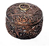 Handmade Wooden Round Shape Home Decorative Gift Dry Fruit Toffee Box