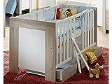 Kinderbett Babybett Ben Dekor eiche sägerau/weiß matt