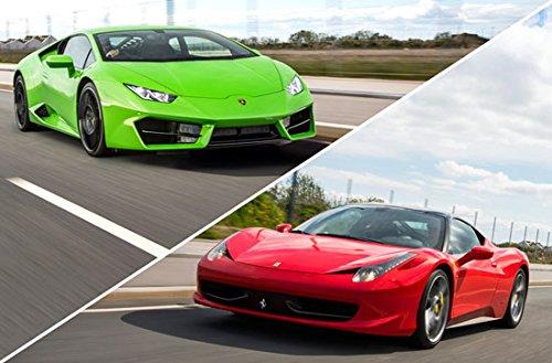 Geschenkgutschein: Ferrari 458 Spider & Lamborghini Huracán fahren