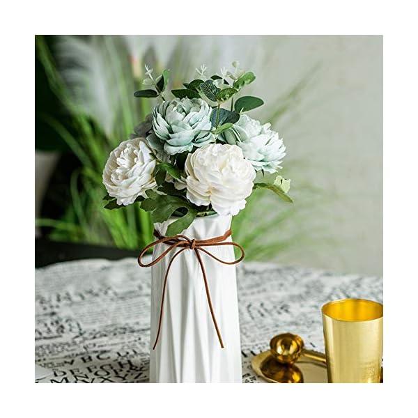 NAttnJf 1 Unid Artificial Peonía Flor Rendimiento Etapa Jardín Boda Fiesta en casa Oficina Hotel Decoración White