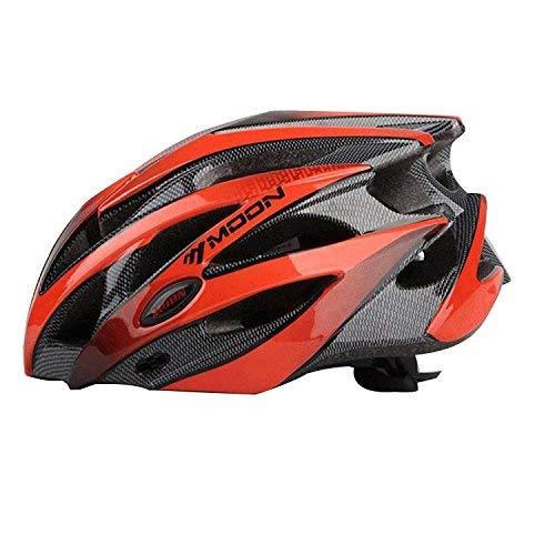 Asvert Fahrradhelm Erwachsener Fahrrad Sturzhelm Reithelm Road Mountainbike Helm, M/L (Rot, L)