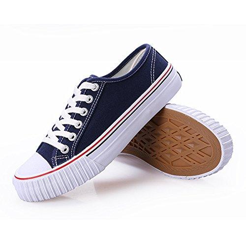 Blu Basse Pizzo Ginnastica Tennis Piatta Sneakers Da Ochenta Marinaio Scarpe Femminile Di Unisex gpqYW5a