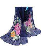 TR.OD Chinese Traditional Soft Chiffon Wrap Shawl Blanket Scarf Stoles Pashmina