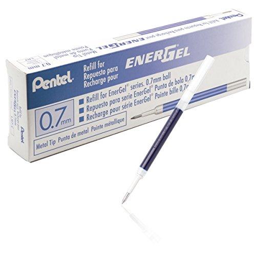 Pentel LR7-CX Nachfüllmine für EnerGel-Stifte 0,35 mm Strichstärke, 0,7 mm Kugeldurchmesser,12 Stück, blau (12 Blau)