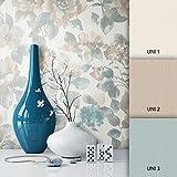 NEWROOM Blumentapete Türkis Vliestapete Blumen Muster/Motiv schöne moderne und edle Design Optik, inklusive Tapezier Ratgeber