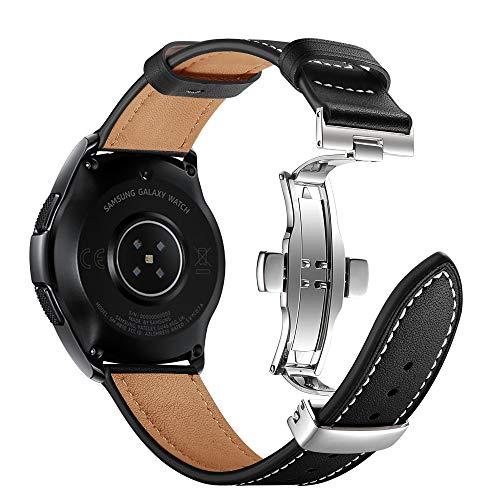 Myada Compatible per Samsung Galaxy Watch Active 40mm Cinturino 20mm, Cinturino per Galaxy Watch 42mm Pelle, Cinturino Samsung Gear Sport, Cinturino Gear S2 Classic, Braccialetto di Ricambio Orologio