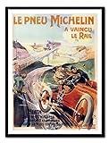 Le Pneu Michelin 1905Print Memo Board, Magnet schwarz gerahmt–41x 31cms (ca. 40,6x 30,5cm)