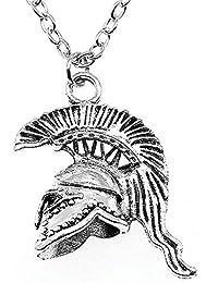WYSIWYG 3 Piezas Colgantes De Cadena Larga De Metal 45Cm O 70Cm Colgantes Collar De Mujer De Joyería Casco Romano Retro del…