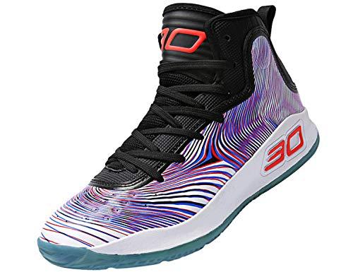 SINOES Männer Basketball Schuhe High-Top-Dämpfung Licht Anti-Skid AtmungsAktive Outdoor-Sportschuhe Man SneakersHerren Damen (High-top-toms)