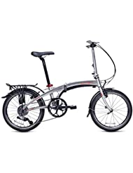 Dahon Vigor D9 Bicicleta Plegable, Unisex Adulto, Gris (Polished), 20""
