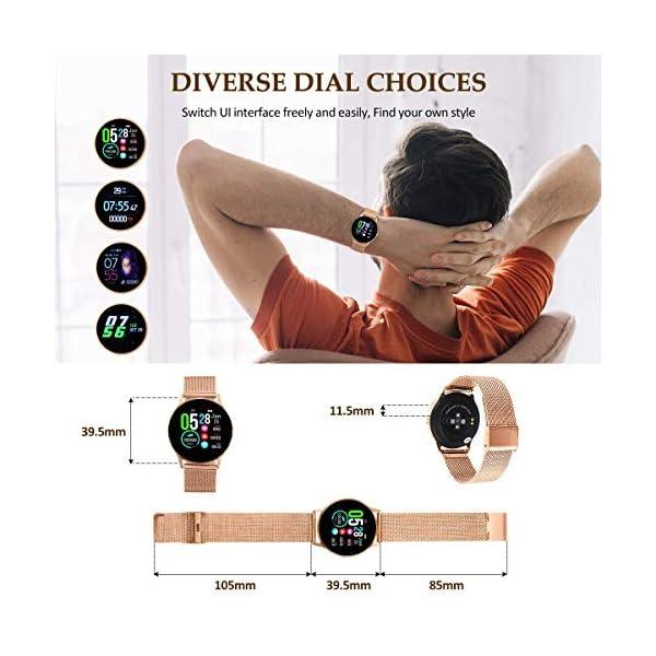 EIVOTOR Smart Watch Sport Fitness Activity Tracker Pulsera Pantalla conectada Touch Podometer Climate Alarm Clock para… 2