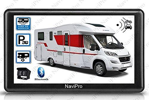 GPS Camping Car 7 Pouces avec Camera DE RECUL sans Fil HD