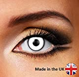 Adults Mens Ladies White Out Halloween Carnival Cosmetic Coloured Fancy Dress Eye Wear Accessory