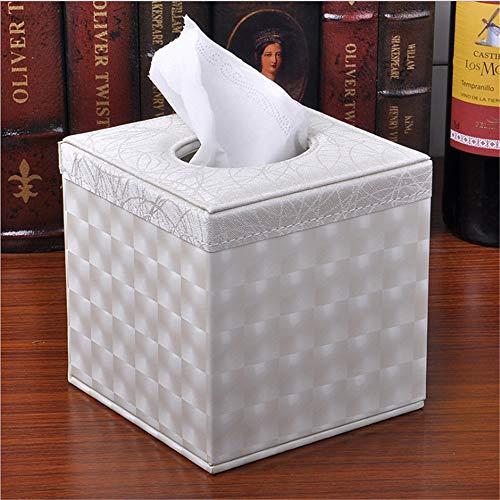 Yan Min Jian Cai Hauptrolle Papier Tissue Box geschnitzt Muster Tray Fashion Square Tray White Small Plaid 13,5 * 13,5 * 13,5 cm -