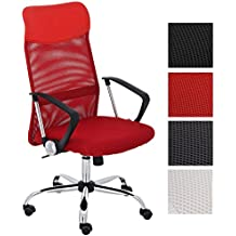 CLP Sedia da ufficio WASHINGTON, sedia scrivania girevole, imbottita, ergonomica,