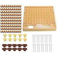 Apicultura completa Reina cría Kit, Complete Catcher jaula apicultura Helper con celda taza/reina funda protectora/caja de peine