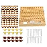 apicoltura Regina allevamento kit completo, completo Catcher Cage Helper con della tazza/Queen copertura protettiva/pettine box