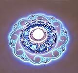 Kristall Deckenleuchte,Moderne LED Kristall Deckenleuchte,Kristall Deckenlampe Geeignet für den Einbau in Fluren, Vorraum, Küche, Bad, Schlafzimmer (Blau Color)