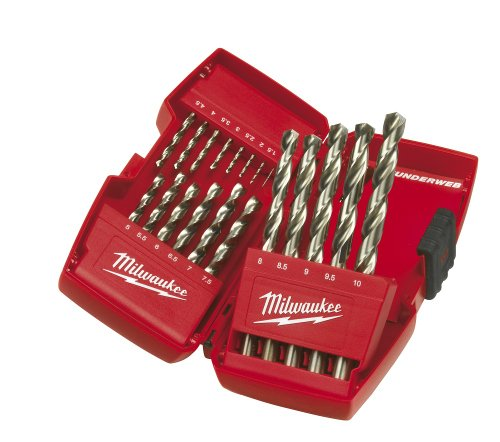 51ADAqleAzL - NO.1 BEST POWER TOOL REVIEW Milwaukee 4932352374 HSS-G Drill Bit Set Metal 19 Pieces COMPARE BUY PRICE UK
