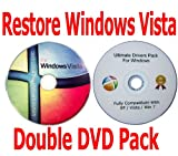 Picture Of Windows Vista Home Premium 32 Bit Recovery Restore Repair Boot Microsoft CD Disc + FREE BONUS Drivers DVD included! Double DVD Pack