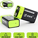 Best Usb Rechargeable Batteries - SOEKAVIA 9V Battery Rechargeable Lithium 400mAh, USB Charged Review