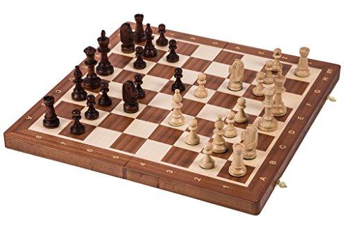 Pro-Schach-Nr-5-MAHAGONI-Schachspiel-aus-Holz-Schachbrett-Staunton-5