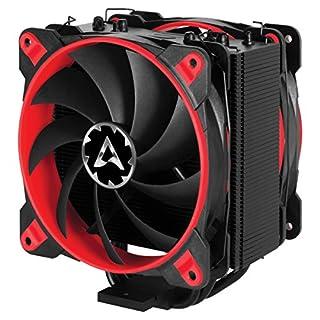 ARCTIC Freezer 33 eSports Edition - Tower CPU-Kühler mit Push-Pull-Konfiguration I 120 mm PWM Prozessorlüfter für Intel und AMD | PWM-Sharing-Technologie (PST) 200 bis 1800 U/min (Rot)
