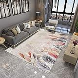 DAMENGXIANG Chinesische Blumen Stil Weichen Teppich Für Wohnzimmer Couchtisch Zimmer Schlafzimmer Rutschfeste Bodenmatte Wohnkultur Fuß Pad 70 × 180 cm