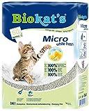 Biokat's Micro White Fresh feine Katzenstreu mit Frühlings-Duft | hohe Ergiebigkeit und hervorragende Geruchsbindung in der Katzentoilette | 1 Sack (1 x 14 L)