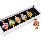 Dadeldo Living & Lifestyle Kugel Xmas Trendy 6er Set Anhänger Glas 7x4x4cm bunt Weihnachten