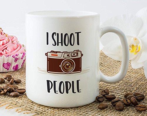 I Shoot People Mug Photographer Mug Photography Lover Coffee Mug Funny Birthday Christmas Gift Idea For Photographer Friend