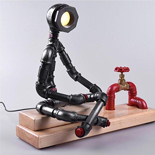 AJZGFLampe créative nordique LED lampe de table de l'eau bar lampe de personnalité créatrice table basse Lampe de table (Couleur : Lumière chaude)
