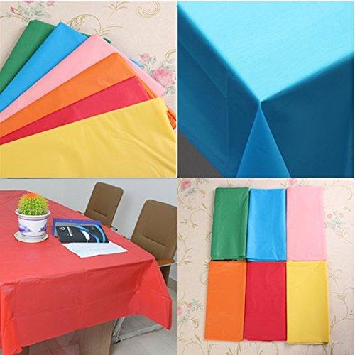 Bluelover Pure in Plastica di Colore Tavolo Rettangolare Copertura Monouso PE Tovaglia Verde