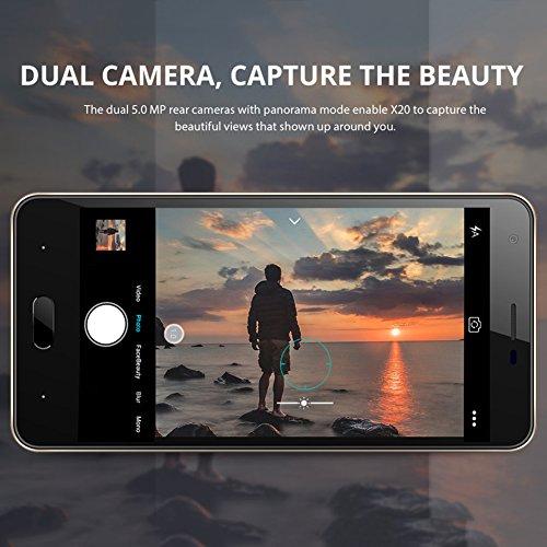 Bulary DOOGEE X20 5 0MP 5 0MP 5 0MP 5 0MP Android 5 0 Tel  fono m  vil 2580mAh 5 0 pulgadas Disco duro MTK6580A Quad-core 2GB RAM 16GB ROM Tel  fono i