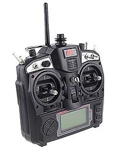 NuoYa005 neuf 2.4 g fS- th9 x 9 cH émetteur radio modèle rC &récepteur noir (joindre une bande de vélo réfléchissant cadeau)