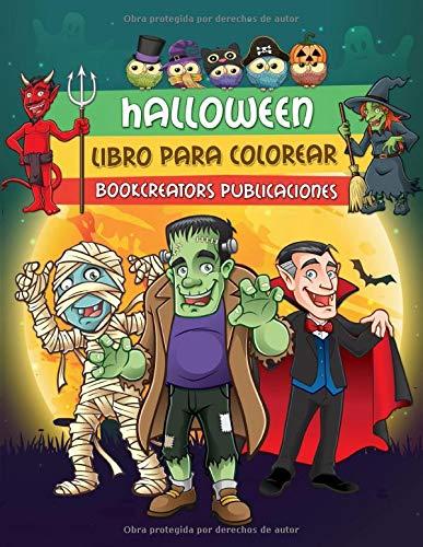 Halloween: Espeluznante Libro para Colorear de Halloween Para Niños con Brujas, Calabazas,...