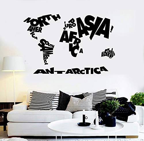 Wandkunst Aufkleber Home Decorate Wohnzimmer Sofa Hintergrund Vinyl Wandtattoo Atlas Geographie Schule Decals Decor Z 86x56 cm ()