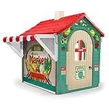 INJUSA- Casita de Juguete Market House con Toldo y Persiana para Niños de 3 años con App...