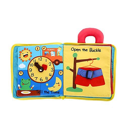 XINGDAO Baby Tuch Buch,Baby Spielzeug Entdeckung,0-3Jahr Alt, Geschenkjungenmädchen, Bestes Geschenk(ab 0 Monate),(5 Seiten).