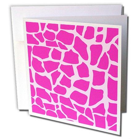 3drose Hot Pink Giraffe Muster Animal Print Mosaik–Wild Afrika Muster elegant modisch–Grußkarten, 15,2x 15,2cm, Set 12(GC _ 155620_ - Einladungen Pink Hot Geburtstag