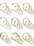 36 Pièces 20 Gauge Boucles d'Oreilles en Acier Inoxydable Anneau de Piercing au Nez...