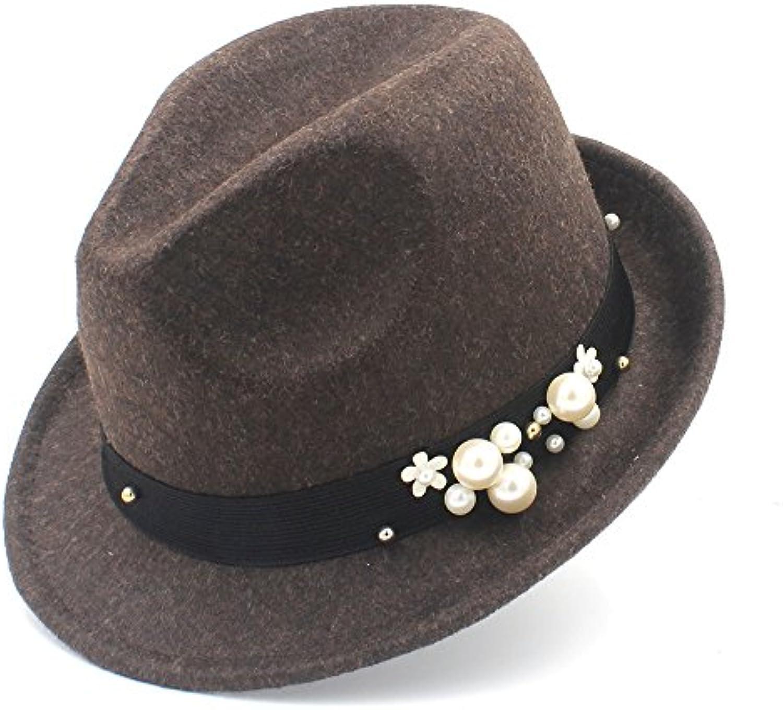 HYF Cappello da Donna in Feltro per Homburg Elegant Lady Gangster Trilby  Homburg per Panama Jazz Caps (Coloreee caff egrave  e705039ce289