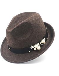 MXL Cappello da Donna in Feltro per Elegant Lady Gangster Trilby Homburg  Panama Jazz Caps ( fc870e87fa2b