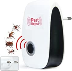 Scallop Ultraschall Schädlingsbekämpfer,Pest Repeller Elektronische Schädlingsbekämpfung Haustierfreundlich Ine Insektenvertreiber für Mäuse, Roaches, Spinnen, Mosquitos, Insekten und Bugs