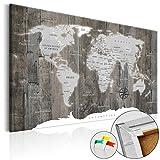 murando - Weltkarte Pinnwand 90x60 cm Bilder mit Kork Rückwand 1 Teilig Vlies Leinwandbild Korktafel Fertig Aufgespannt Wandbilder XXL Kunstdrucke Landkarte k-C-0050-p-c