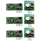 com-four XY-MK-5V/XY-FST 433 MHz Funk - Sende und Empfänger Modul Set für Raspberry und Arduino Wireless Transmitter Receiver (03 Stück)