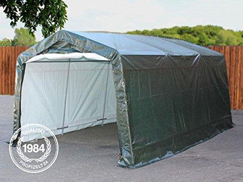 Garagenzelt Weidezelt 3,3 x 6,2 m in grün, Unterstand, Carport -zelt mit stabiler Stahlrohrkonstruktion und 260g/m² Plane -